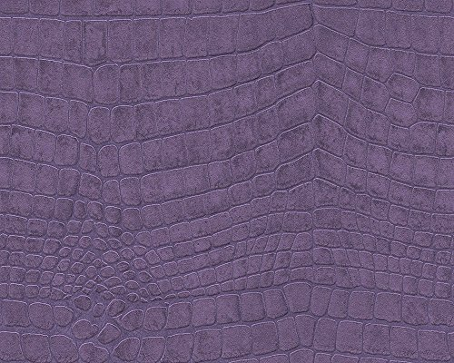 51157503 - Serenity Crocodile Skin Purple Galerie Wallpaper ()