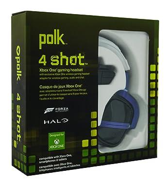 Polk Audio - Headset 4 Shot, Color Blanco/Verde (Xbox One)