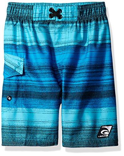 Laguna Little Boys' Santa Cruz Swim Trunk, Blue, (Cruz Boys Swimsuit)