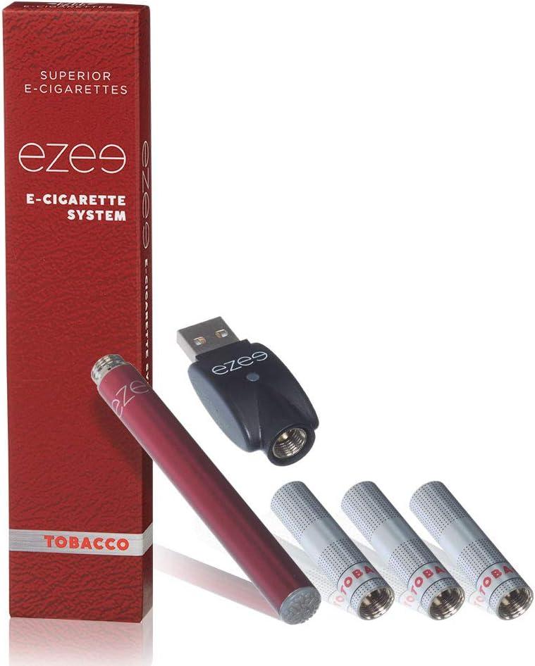 Ezee Cigarrillo Electrónico Kit de Inicio Sabor a Mentol Sin Nicotina y sin Tabaco E-Cigarrillo 297 mAh Batería recargable Con 3 Cartuchos Desechables