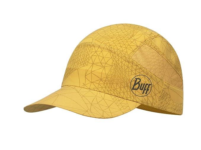 BUFF® Pack Trek Cap Boina - para hombre Amarillo BUFF CAP, Schirmmütze mit extragroßem Schild, extrafein, 98% UV-Schutz, SENFGELB,…
