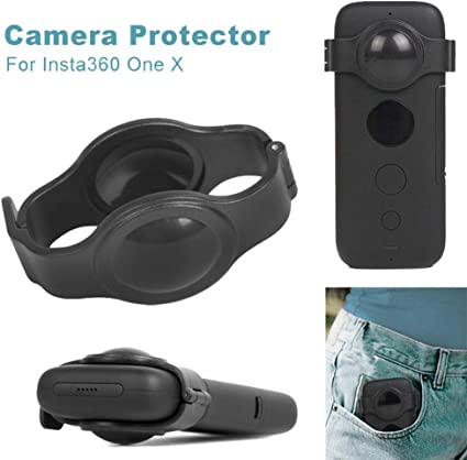 Prevent Scratch,Plastic Protective Housing Case for Insta360 One X Protector Fisheye Lens Sodoop Cameras Lens Protective Cover Case Compatible for Insta360 One X Camera