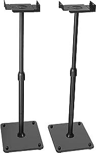 PERLESMITH Universal Speaker Stands Height Adjustable Extend 18