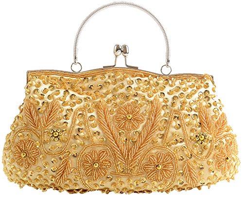 lunga 100 Bag catena Paillettes Borsa Womens Handmade con Wedding Clutch da oro Pulama® sposa pw561q7