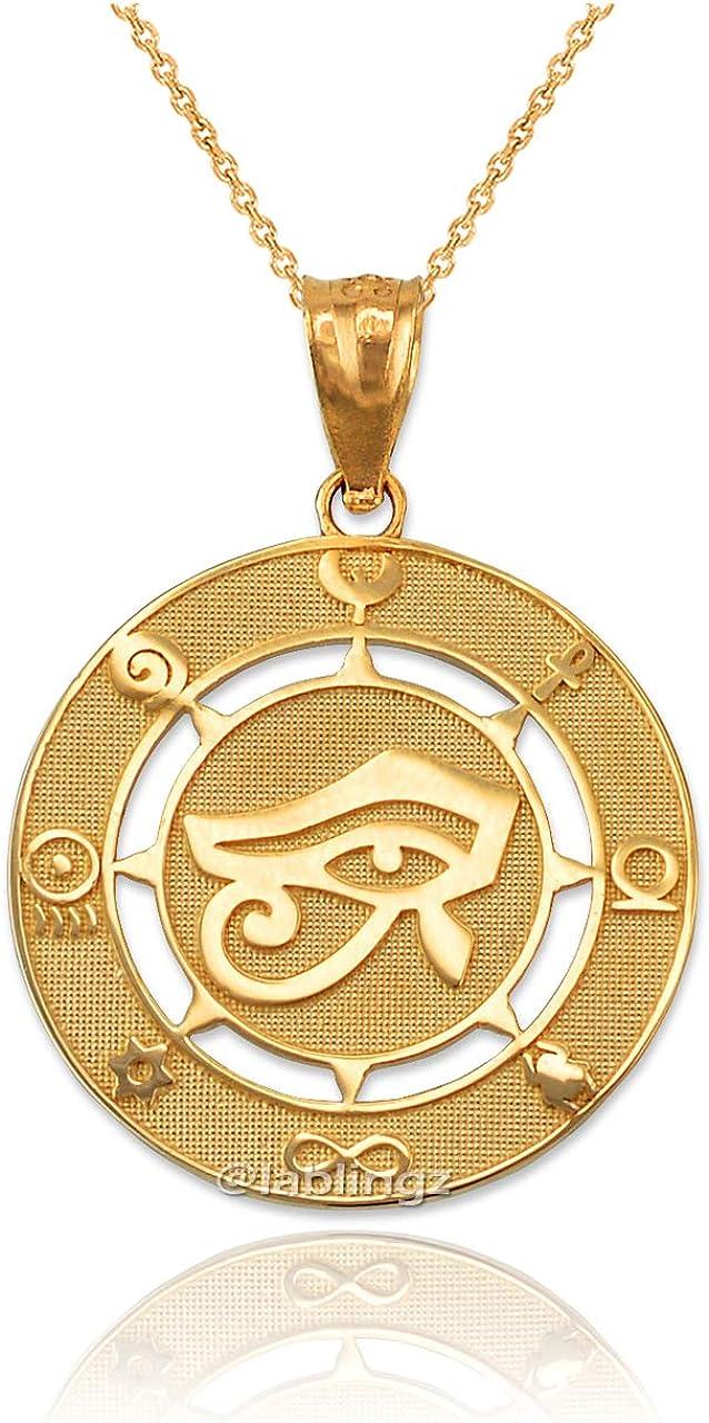 LA BLINGZ 10K Rose Gold Ice Hockey Player Necklace
