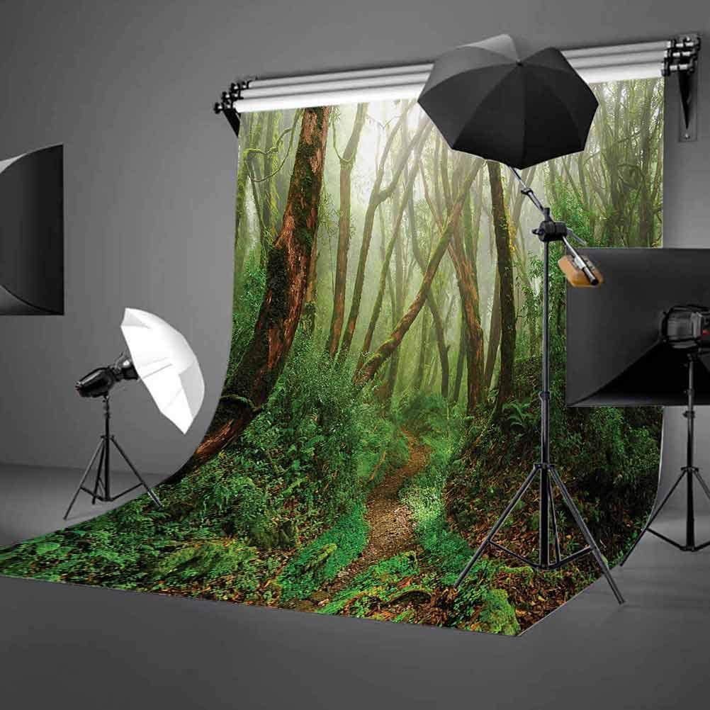 Spooky Tropical Exotic Fog Jungle in Rainforest Nepal Climate Picture Background for Kid Baby Boy Girl Artistic Portrait Photo Shoot Studio Props Video Drape Vinyl 10x15 FT Photography Backdrop