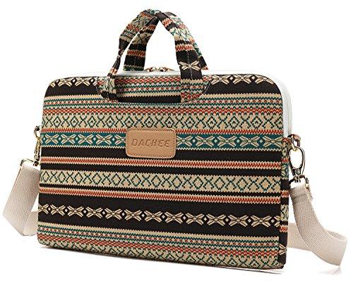 DACHEE Bohemian Laptop Messenger Bag 15 Inch Laptop Briefcase 15.4 Inch /15.6 Inch Laptop Shoulder Bag (Messenger Bag Boston)