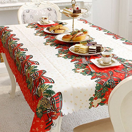 Round Rectangle Occasional Table (Tablecloth Christmas Decors Tablecloth Thanksgiving Printed Fabric Tablecloth)