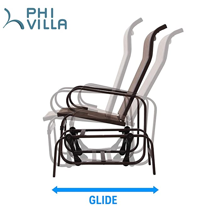 Amazon.com: Bistro Swing Glider Chair Patio Rocking Chair ...