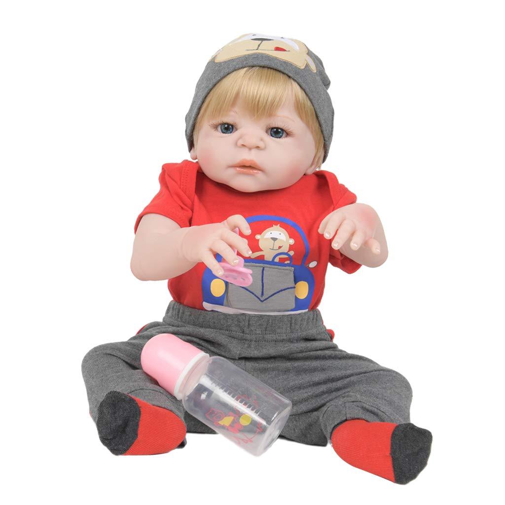 FLAMEER Realistische Silikon Vinyl Babypuppe Funktionspuppe Weichkörperpuppe mit Zubehör, 55cm -   13 B07LDKCZ91 Babypuppen Praktisch und wirtschaftlich | Günstigstes