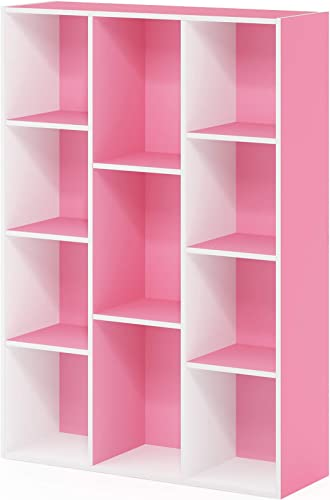 FURINNO 11-Cube Reversible Open Shelf Bookcase - a good cheap modern bookcase