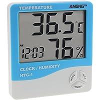 Gaeruite Thermomètre Hygromètre Intérieur - Thermomètre Interieur Numérique à écran LCD - Thermomètre d'indicateur numérique de confort de mètre électronique d'intérieur