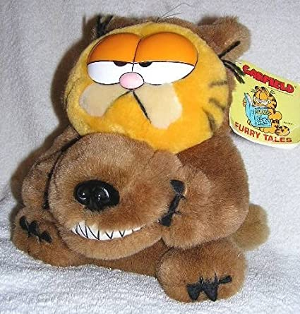 Amazon Com Garfield Vintage The Cat Furry Tales 8 Plush Big Bad Wolf Doll Toys Games