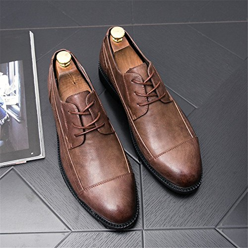 Traspiranti Cricket Bassa Oxford Scarpe da Nuova Brogue da Business Uomo a Linea Marrone Morbidezza con Casual Scarpe morbide e vq6pTS
