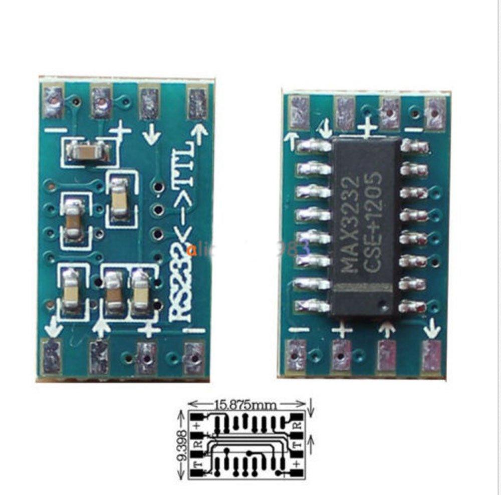 2pcs Mini RS232 to TTL Converter Module Board Adapter MAX3232CSE 120kbps 3-5V