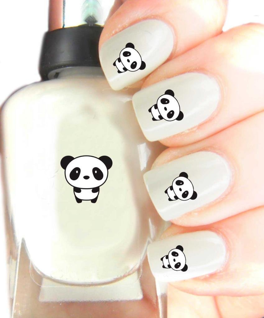 Easy to use, high quality nail art decal stickers for every occasion panda SNAD