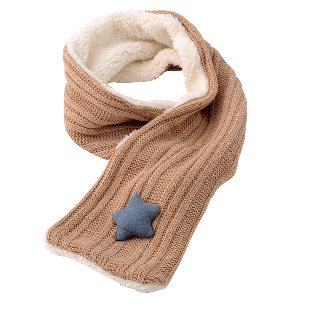 Girls Winter Warm Knit Scarves Fashion Solid Color Fleece Cable Scarf