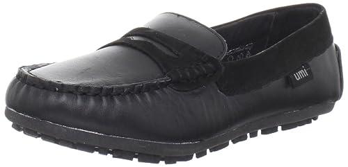 Umi Morie - Mocasines de cuero niña, Negro (Black), 28 EU: Amazon.es: Zapatos y complementos