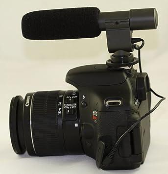 Profesional Uni- Dirección micrófono estéreo para Canon, Nikon ...