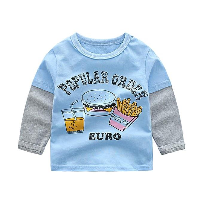 Ropa de niños Niños Niños Bebé Niña Niño Sudadera de Manga Larga Tops Camisas Ropa Casual: Amazon.es: Ropa y accesorios