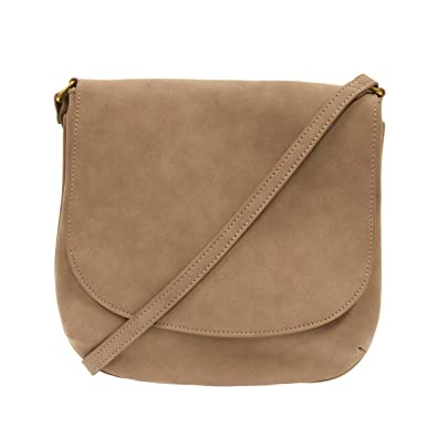 1146697467 Joy Susan Jackie Large Flap Sueded Medium Crossbody Handbag (Camel ...