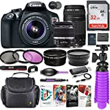 Canon EOS Rebel T6 18MP DSLR Camera with Canon 18-55mm IS II Lens & Canon EF 75-300mm III Lens Bundle + 32GB SD Memory + HD Filters + Spider Tripod + Professional Bundle with Corel Software Kit