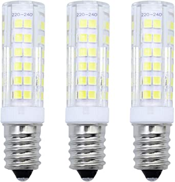 MZMing [3 Pack] E14 Ampoule LED 7W Équivalent 50W Ampoule Halogène Blanc Froid 6000K LED 680Lumens Ampoules de Hotte AC220 240V Économie d'énergie Non