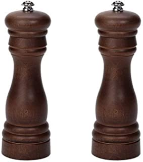 product image for Fletchers' Mill Federal Salt & Pepper Mill, Walnut Stain - 6 Inch, Adjustable Coarseness Fine to Coarse, MADE IN U.S.A.