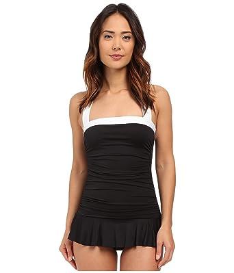 094e3dbdf9 Lauren by Ralph Lauren Women's Ruched Halter Skirted One-Piece Swimsuit,  Black (4