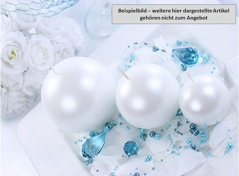 Feste Feiern Deko Weihnachten I 5 Teile 4,5cm Kugelkerzen Deko-Kerzen rund lila metallic I Adventskranz Gesteck Weihnachtsdeko