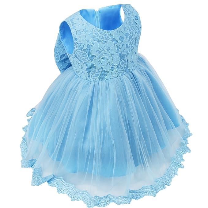9ca8cb578 Freebily Vestido de Princesa Elegante para Niñas Bebés Vestido Infantil de  Bautizo Fiesta Boda  Amazon.es  Ropa y accesorios
