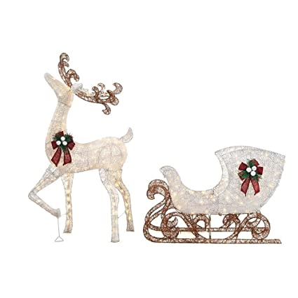 5ab56447ac Amazon.com  Home Accents Holiday 60 in. LED Lighted Standing Deer ...