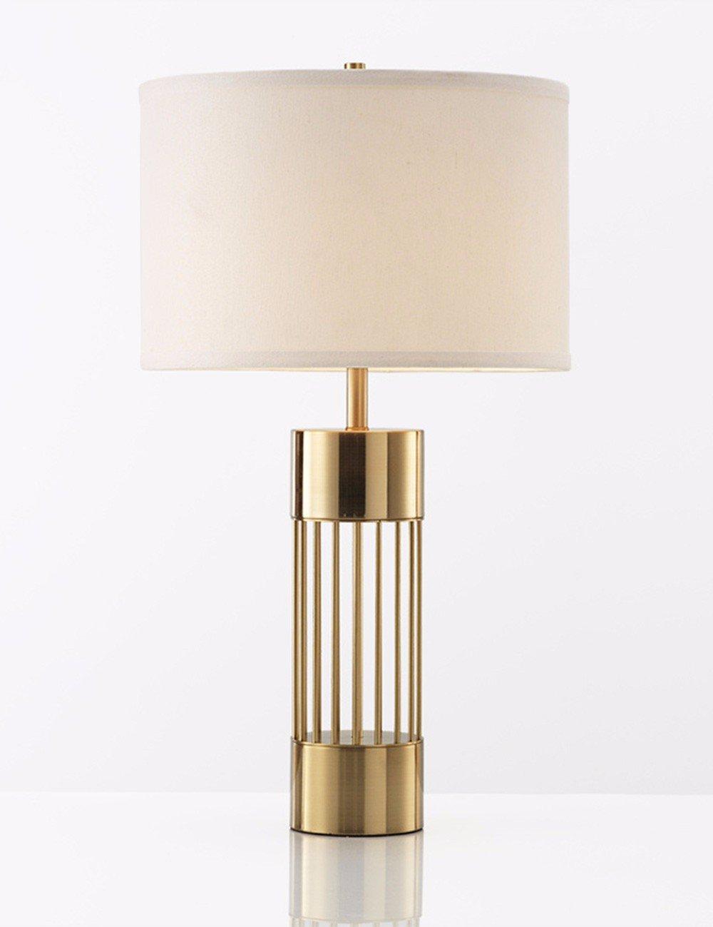 CJSHV-post moderno della personalità di rame lampada da tavolo, nordic modello semplice stanza accogliente sala creativi, studio, comodino lampada