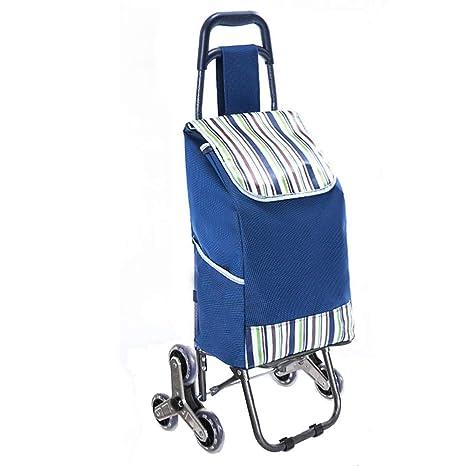 AAFEO-Trolley Carrito de la Compra Pull Cart Folding Home Portable (Color : Gray