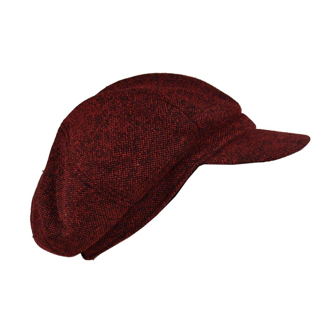 Landana Headscarves Ladies Large Melange Newsboy Cap - Red