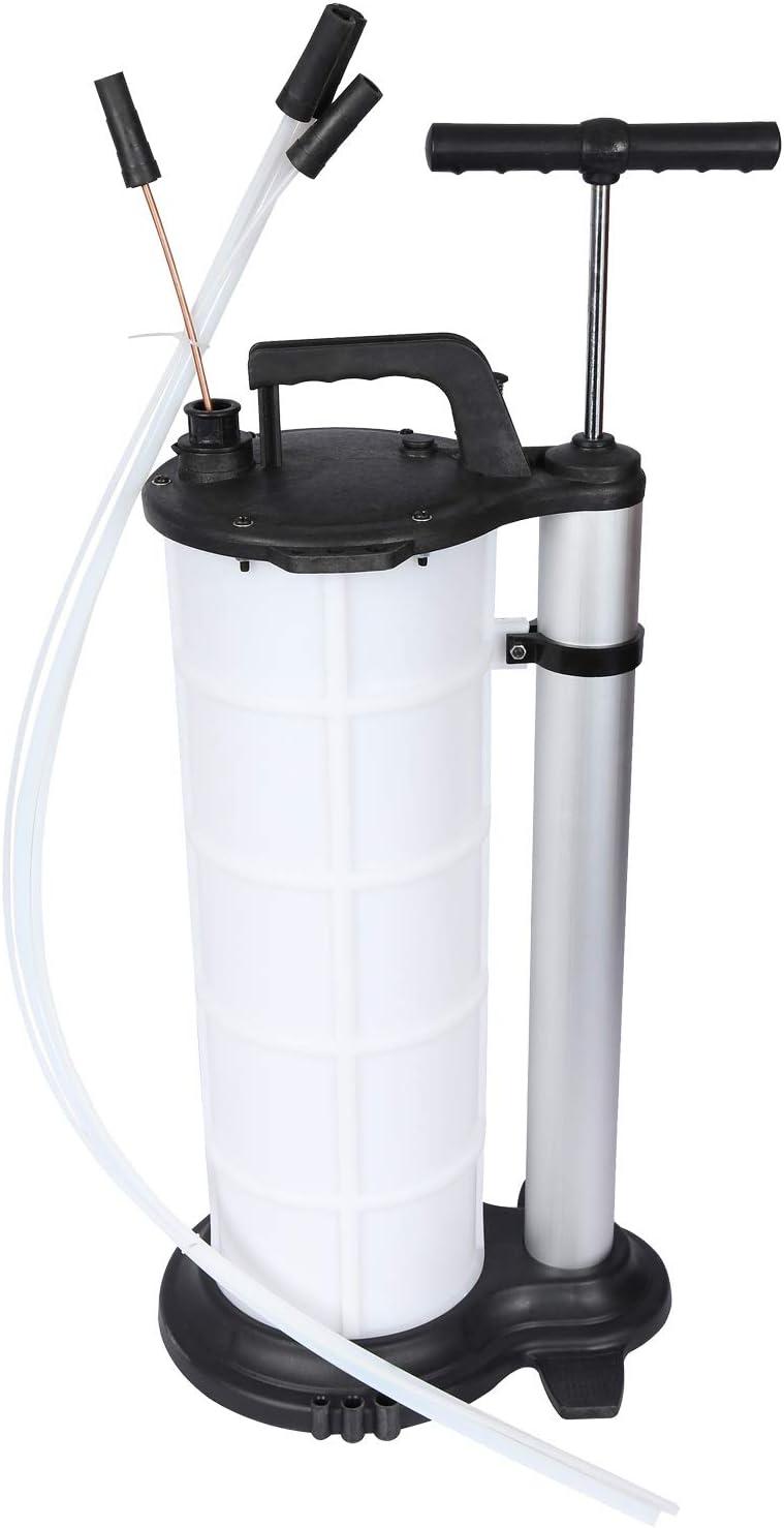 Extractor de l/íquidos manual con tanque 9 litros para succi/ón por vac/ío de aceite y otros l/íquidos