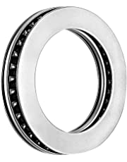 uxcell® AXK4565+2AS Needle Roller Thrust Bearings with Bearing Washers, 45mm Bore Diameter, 65mm OD, 5mm Total Thickness
