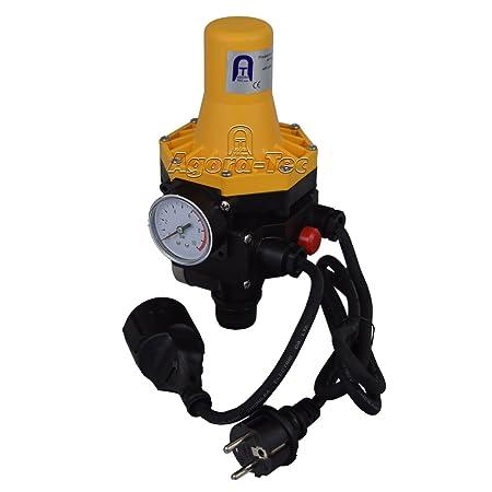 Agora-Tec Pumpen Druckschalter AT-DWv-3 mit Kabel zur Pumpensteuerung für Kreisel-, Tauch- Tiefbrunnenpumpen und Betriebsdruc