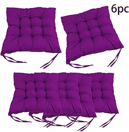 Cuscino Sedia 40x40cm,Set da 6 Cuscini da Sedia Trapuntati 40x40, Cuscini Sedia per Interni ed Esterni Decorazione di mobili da Giardino di Diversi