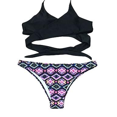 Amazon.com: gogobo mujeres Bikini Set Vendaje push-up ...