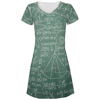 da3f1a1c28512 Amazon.com: Math Geek Formulas Chalkboard All Over Juniors Beach Cover-Up  Dress: Clothing