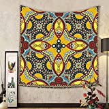 Gzhihine Custom tapestry Oriental Tapestry Middle Orient Eastern Ethnic Islamic Different Floral Swirl Detailed Image Artwork for Bedroom Living Room Dorm Multicolor