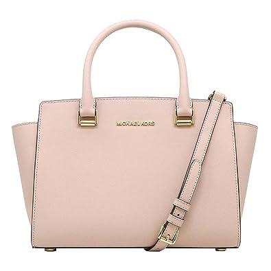 c57b5308c Michael Kors Women's Selma Medium Top Zip Satchel (Ballet): Handbags ...