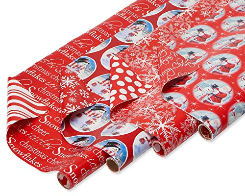 American Greetings Reversible Christmas Wrapping Paper,...