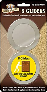 Parker & Bailey 290081 3.5 in. Furniture Gliders44; Pack of 8