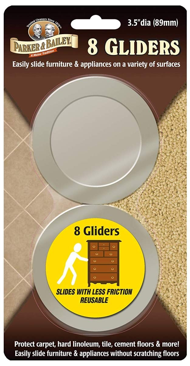 Parker /& Bailey 290081 3.5 in Furniture Gliders44; Pack of 8