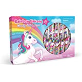 Rainbow Unicorn Candy Swirl Lollipops - Kids Stocking Stuffers, Party Favors, and Easter Candy - Pack of 20