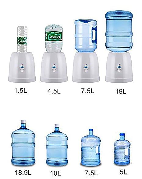 Fecihor - Dispensador de Agua con Grifo y Soporte para Botella de Agua (27 x 27 cm), Color Blanco: Amazon.es: Hogar
