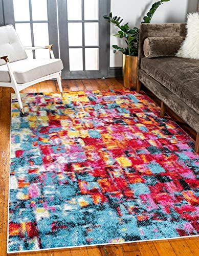 Unique Loom Lyon Modern Area Rug, 9 0 x 12 0, Multi