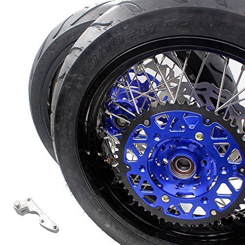 KKE SUZUKI DRZ DIRT BIKE TIRE DRZ400 DRZ400E DRZ400S 3.5/4.25 SUPERMOTO WHEEL SET WITH TIRE & DISC 00-04 00-07 00-17